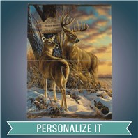 PERSONALIZED TWILIGHT ESCAPADE-WHITETAIL DEER