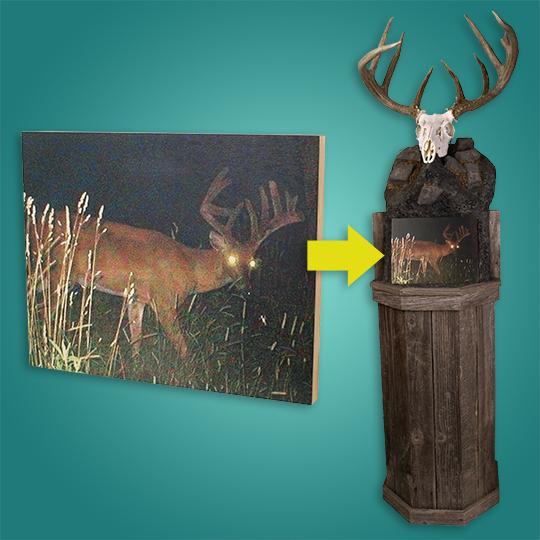 How do you mount deer skulls?