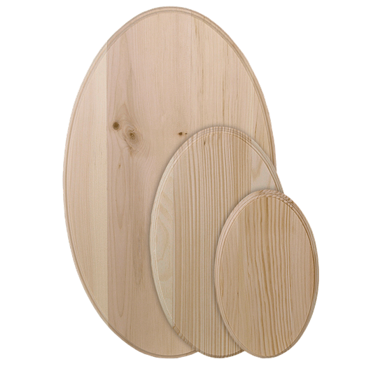 Oval PIne Craft Signboard Group