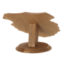 Universal-Taxidermy-Display-Bracket-Oak-Table-Mount-Arrowhead