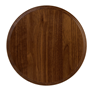 Thick Walnut Round Flat Base–10""