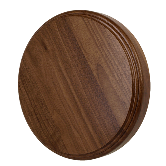 Thick Walnut Round Flat Base - 10""