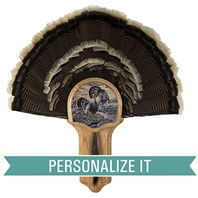 Personalized Deluxe Turkey Display Kit, Oak Merriam's