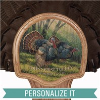 Personalized Deluxe Turkey Display Kit, Oak Spring Strut