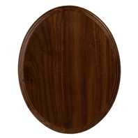 "Thick Walnut Oval Flat Base-10"" x 8"""