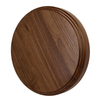 Thick Walnut Round Flat Base-10""
