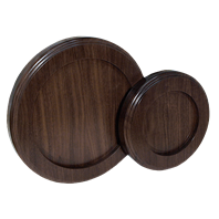 Thick Walnut Round Bases