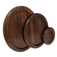 Thick Walnut Oval Bases