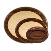 Walnut Oval Bases