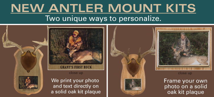 antler mount kits deer hunting taxidermy personalized